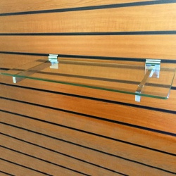 Slatwall Glass Shelves (600mm Wide)
