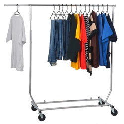 Collapsible Chrome Garment Rail