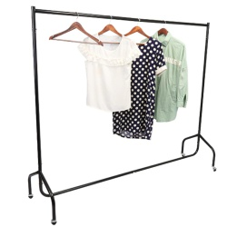 Garment Rail Matt Black (Assorted Sizes)