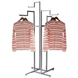 Adjustable 4 Arm Stepped Clothing Rail