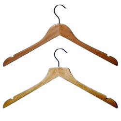 Wooden Shaped Tops Hangers (Box Of 100)