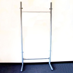 Twin Slot Shelving Tubular Wall Bays (Single Legs)
