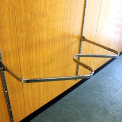 Twin Slot Zig Zag Clothes Rail