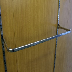 Twin Slot Hanging D Clothes Rail (1000mm)