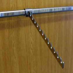 Twin Slot Shelving Accessory Bar Sloping Notched Arm