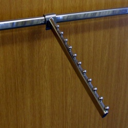 Twin Slot Shelving Accessory Bar 11 Ball Waterfall Arm