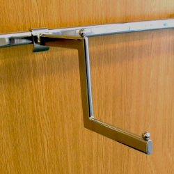 Twin Slot Shelving Accessory Bar 2 Step Clothing Arm
