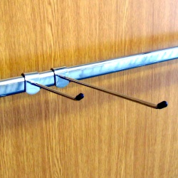 Twin Slot Shelving Accessory Bar Straight Hooks