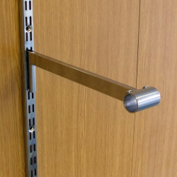 Twin Slot Shelving Chrome Tubing Bracket