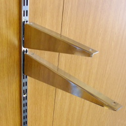 Twin Slot Shelving Wood Shelf Brackets (Assorted)