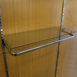Twin Slot Glass Shelves (Assorted Sizes)