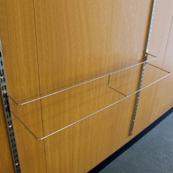 Twin Slot Shelving Shoe Display Rack