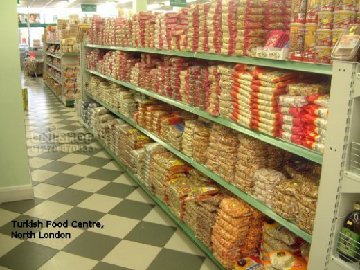 Gondola Shelving in Turkish Food Centre, North London
