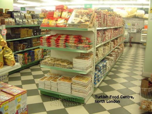 Plain Gondola Bay for the Turkish Food Centre, North London