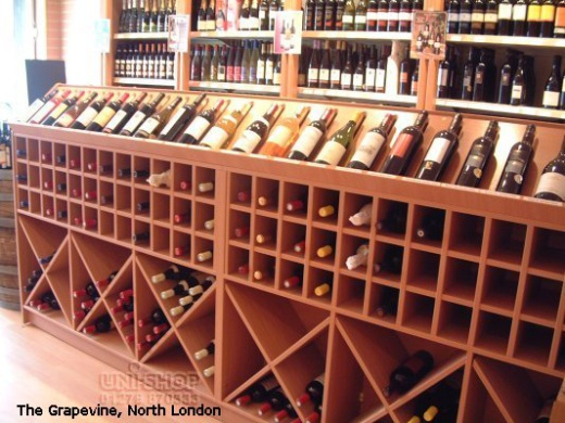 Wine Racking at The Grapevine, North London
