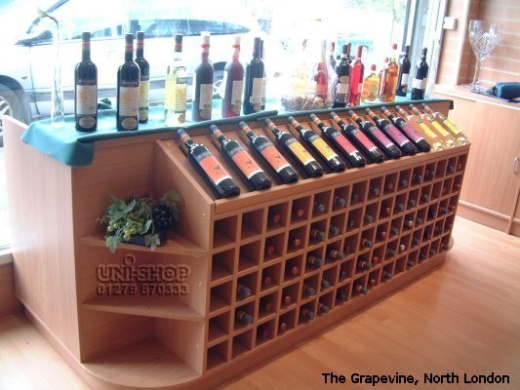 Wine and Spirits Racking and Display Furniture at The Grapevine, North London