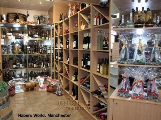 Wine Racking and Shelving at Habers World, Manchester