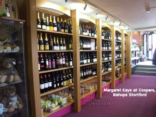 Margaret Kays at Coopers Wine Shelving, Bishop Stortford