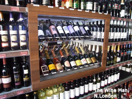 Wine and Spirits Display for The Wine Man, North London