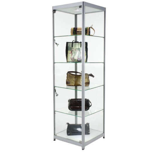 Single Glass Tower Cabinet (1980 X 600 X 600MM)