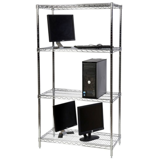 Chrome Wire Shelving (72 Inch High x 60 Inch Wide)