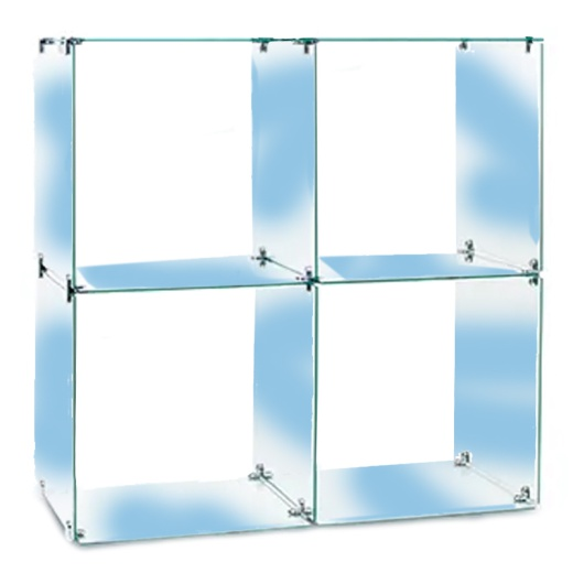 Four Glass Cubes Retail Display Kit