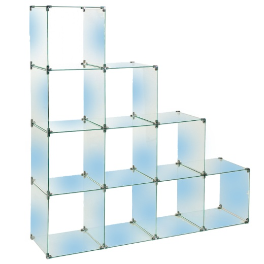 10 Glass Cubes Retail Display Kit