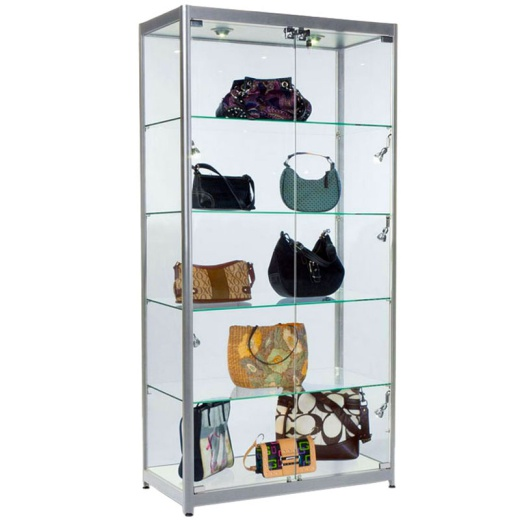 2 Door Glass Showcase Cabinet (1980 X 1000MM)