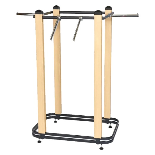 Cladded Twin Slot 4 Way Clothing Rail (603MM)