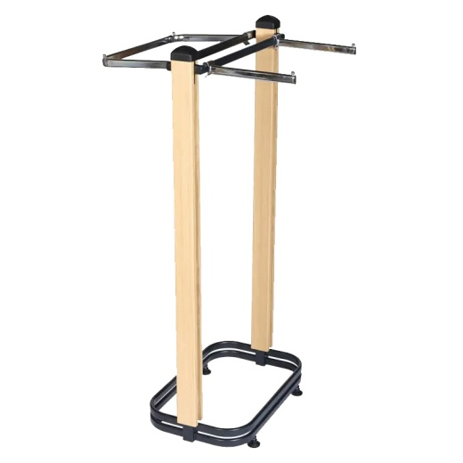 Cladded Twin Slot Twin Post Clothing Rail (603mm)