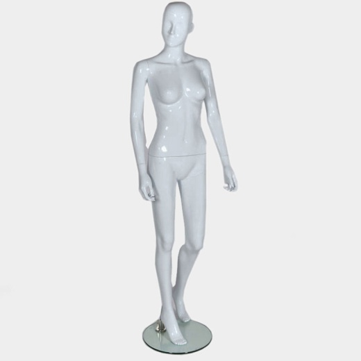Female Abstract Mannequin Gloss White