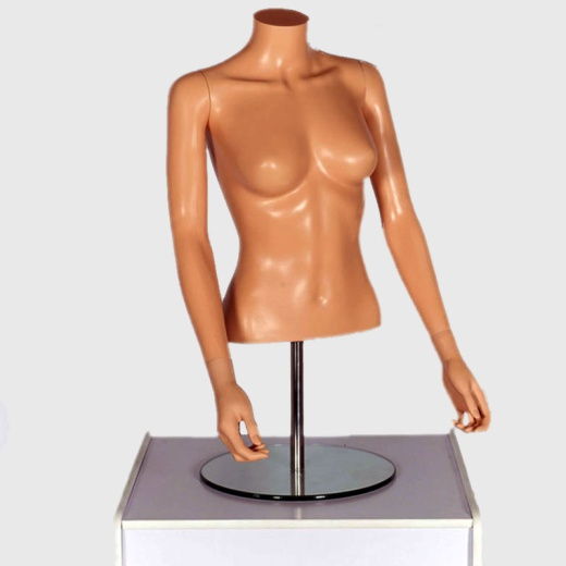 Female Flesh Tone Upper Torso Mannequin