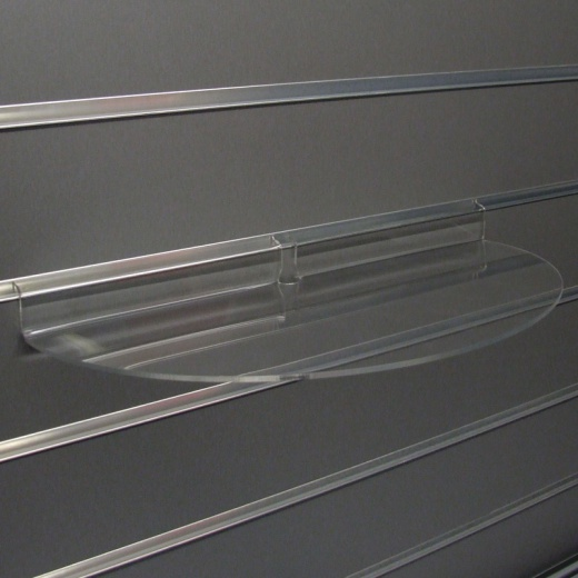 Slatwall Curved Display Shelf Retail Fitting