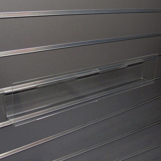 Slatwall Large Acrylic Card Shelf
