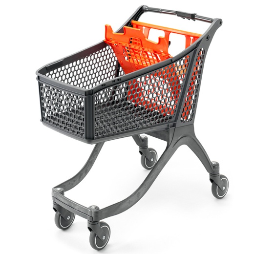 Plastic Supermarket Trolley - 100% Recyclable (99 Litres)