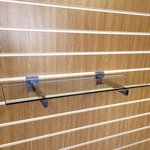 Slatwall Glass Shelves (1050mm Wide)