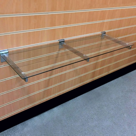 Slatwall Glass Shelves (1200mm Wide)