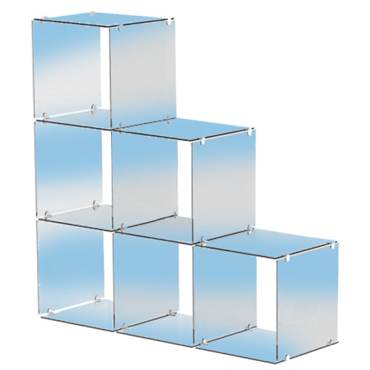6 Stepped Glass Cubes Retail Display Kit