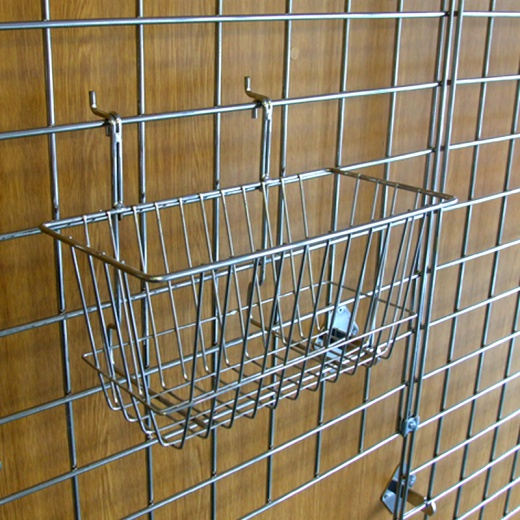 Gridwall Narrow Basket Shop Fitting
