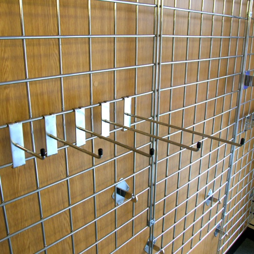 Gridwall Straight Hook Shop Fitting (Assorted Sizes)