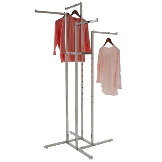 Adjustable 4 Arm Straight Clothing Rail