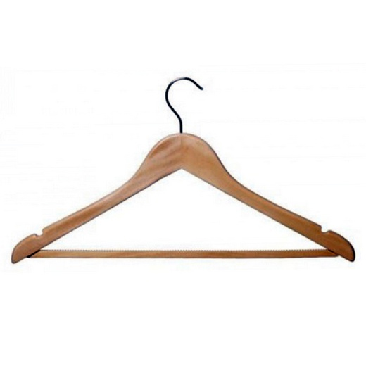 Wooden Shaped Suit Hangers (Box Of 100)