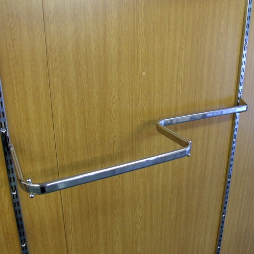 Twin Slot Shelving Combination Clothes Rail