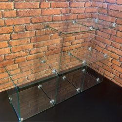 Glass & Wire Retail Display Cubes