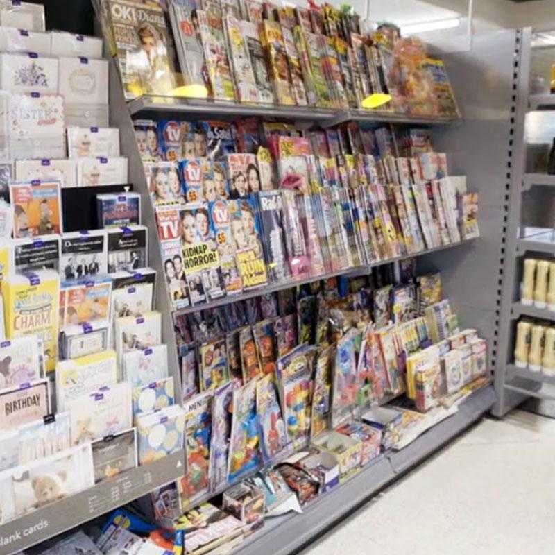 Magazine Shelf: Shop Shelving Magazine Shelf (Single Tier)