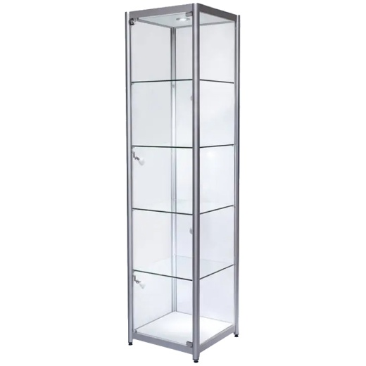 Picture of Single Glass Tower Cabinet (1980 X 500 X 500MM)