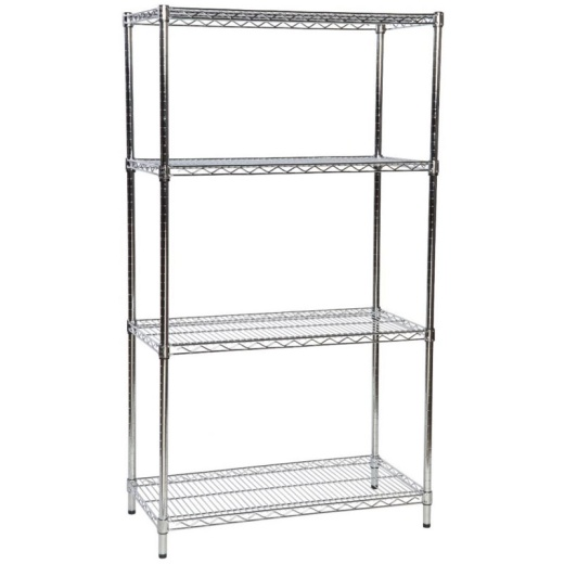 Uni-Shop (Fitting) Ltd - Chrome Wire Shelves (Pack Of 4 Assorted Sizes)