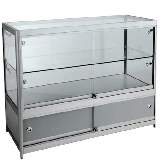 Picture of Aluminium Counter With Storage 900 X 1000 X 500