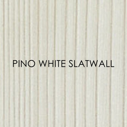 Picture of Pino White Slatwall Panels