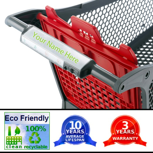 Image of Plastic Supermarket Trolley - 100% Recyclable (75 Litres)
